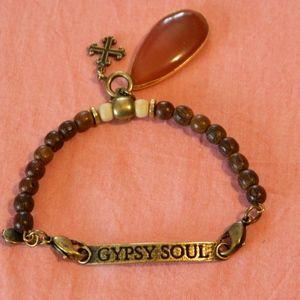 Lenny Eva Gypsy Soul beaded bracelet Rust stone